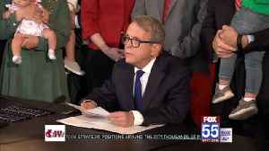 Ohio governor signs ban on abortion after 1st heartbeat [Video]