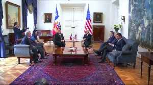 News video: Pompeo says U.S. won't quit fight in Venezuela, defends sanctions