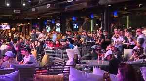 Golden Knights fans take over Topgolf for Game 2 watch party [Video]