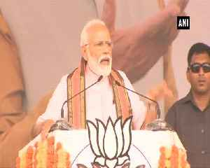 News video: PM Modi terms Congress JDS coalition symbol of dynasty says their mission is commission