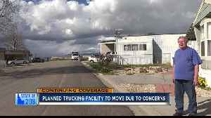 Planned trucking facility to move due to concerns [Video]