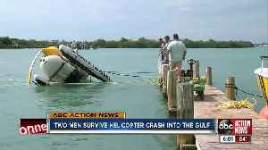 Pilots walk away uninjured after helicopter crashes near Inter-coastal Waterway [Video]