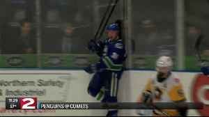 Comets beat Penguins 8-1 in a wild one [Video]