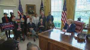 President Trump's Heartwarming Meeting With WW 2 Heroes In The Oval Office [Video]
