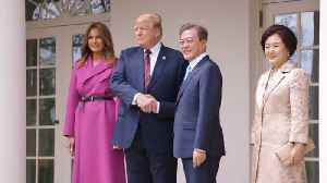 The President and First Lady Meet The President and First Lady of South Korea [Video]