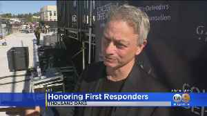 Actor Gary Sinise, Rocker John Andrasik Host Party For First Reponders [Video]