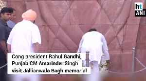 Rahul Gandhi Punjab CM pay tribute to martyrs of Jallianwala Bagh massacre [Video]