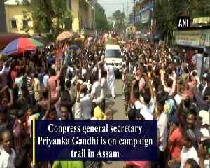 Priyanka Gandhi holds roadshow in Assams Silchar for Congress candidate [Video]