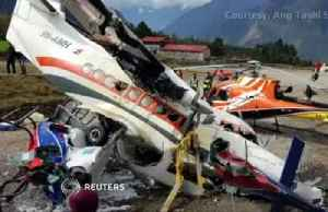 Plane hits helicopter at Nepal airport, killing three [Video]