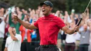 Tiger Woods Celebrates His Masters Championship [Video]