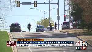 Overland Park girl, 14, dies after being hit by car Friday [Video]