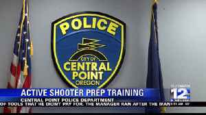 Police department teaches people how to respond to an active shooter [Video]