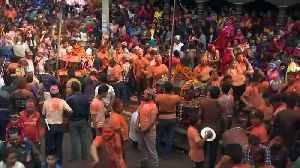 Drums, dance and colour mark Nepalese New Year [Video]