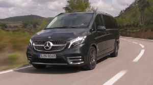 Mercedes-Benz V-Class 300 d 4MATIC in graphite grey Driving Video [Video]