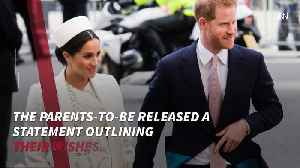 Prince Harry And Duchess Meghan Announce Their Formal Birth Plan [Video]