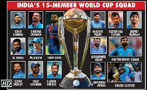 News video: World Cup 2019 | India's squad announced