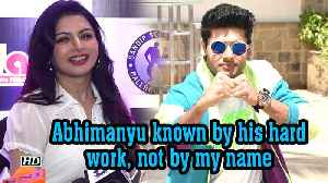 Abhimanyu known by his hard work, not by my name : Bhagyashree [Video]