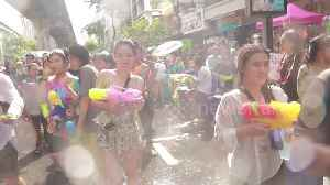 Incredible scenes as crowds of tourists join Thailand's Songkran new year celebrations [Video]
