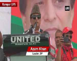 News video: Azam Khan takes apparent derogatory jibe at Jaya Prada