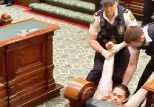 Climate Protesters Removed From South Australian Parliament [Video]