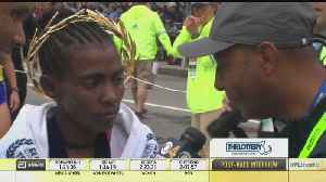 Worknesh Degefa Reacts To Winning Boston Marathon By Wide Margin [Video]