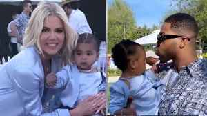 Khloe Kardahsian SHOCKED As Tristan Thompson SHOWS UP To baby True's Birthday Party! [Video]