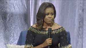 Michelle Obama Talks The Queen In London [Video]