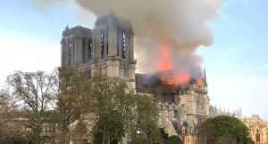 News video: Massive Fire Breaks Out at Notre Dame Cathedral
