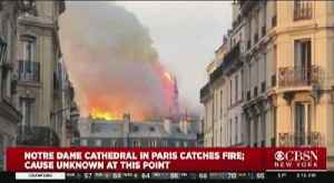 News video: Notre Dame Cathedral Engulfed In Flames