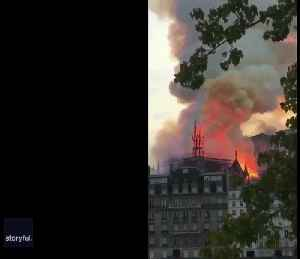News video: Spire Falls as Fire Rages at Notre Dame in Paris