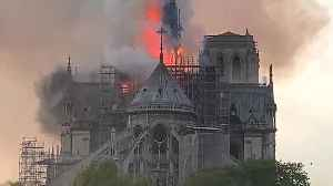 News video: Notre Dame Cathedral In Paris Engulfed In Flames