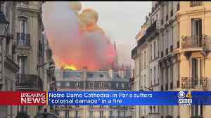 News video: Notre Dame Cathedral In Paris Suffers 'Colossal Damage' In Fire