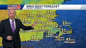 Video: Wind gusts to usher in cold air [Video]