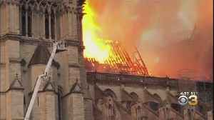 Flames Engulf Notre Dame Cathedral, Spire Atop Historic Building Collapses [Video]