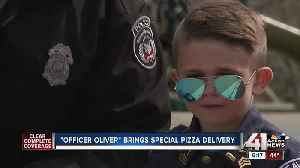 'Officer Oliver' brings special pizza delivery [Video]