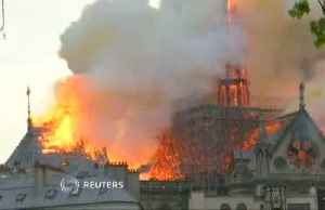 News video: Paris' historic Notre-Dame Cathedral hit by fire
