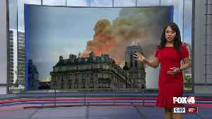 News video: Fire at the Notre Dame Cathedral in Paris
