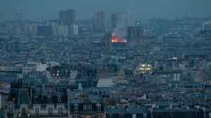 Witnesses watch as Notre Dame cathedrals burns in Paris [Video]