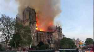 News video: Iconic Notre Dame Cathedral On Fire
