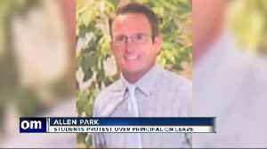 Allen Park Middle School students protesting to support principal placed on administrative leave [Video]