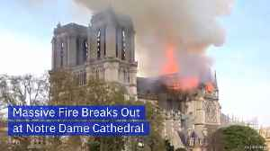 News video: Notre Dame Is In Flames And The World Is In Horror