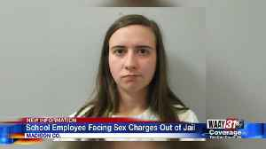 School employee facing sex charges out of jail [Video]