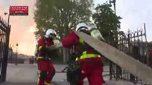 Firefighters film their battle against Notre-Dame fire [Video]