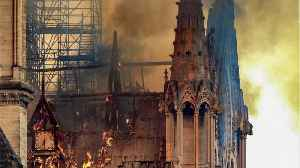 News video: Haunting Photos Of The Notre Dame Cathedral's Charred Remains