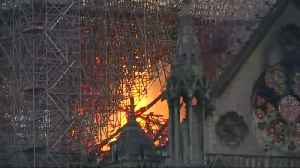 Paris' historic Notre-Dame Cathedral hit by fire [Video]