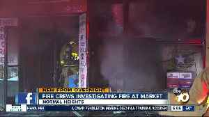 Fire destroys market in Normal Heights [Video]