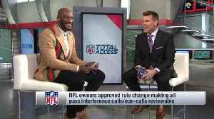 Los Angeles Rams cornerback Aqib Talib weighs in on the new reviewable pass interference rule [Video]