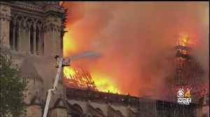 News video: Notre Dame Cathedral Badly Damaged In Fire