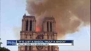 Paris vacationers react to devastating Notre Dame Cathedral fire [Video]