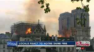 Locals react to fire that caused horrific damage to Notre Dame Cathedral [Video]